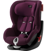 Детское автокресло 9-18 кг Britax Roemer King II Black Series Burgundy Red